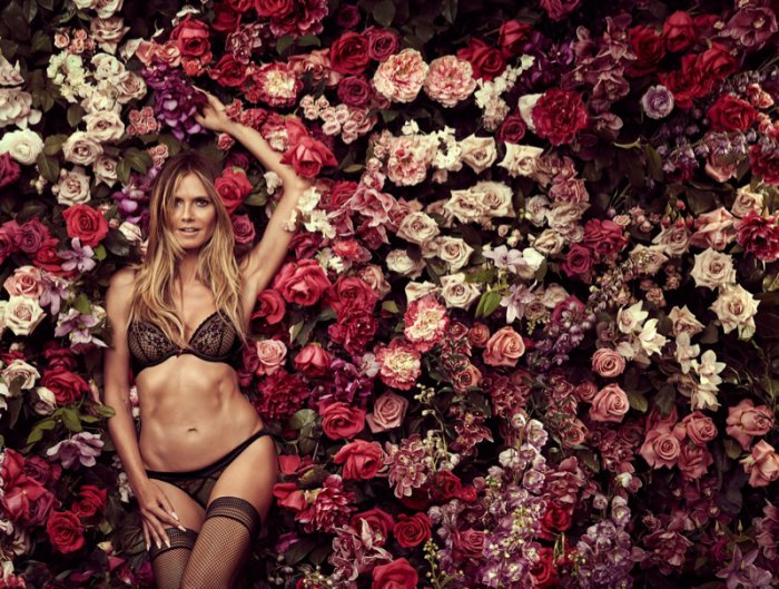 good reputation fashion design best site Heidi Klum is in Full Bloom for Latest Intimates Campaign ...