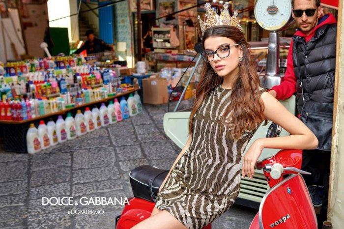 Sonia Ben Ammar stars in Dolce   Gabbana Eyewear s fall-winter 2017 campaign.  Italian fashion house ... 1a98030678a8