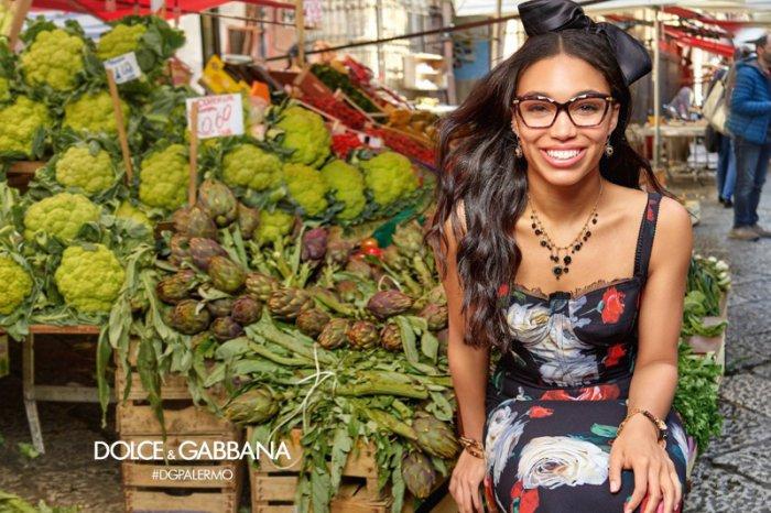 206024fab3 Corinne Foxx stars in Dolce   Gabbana Eyewear s fall-winter 2017 campaign