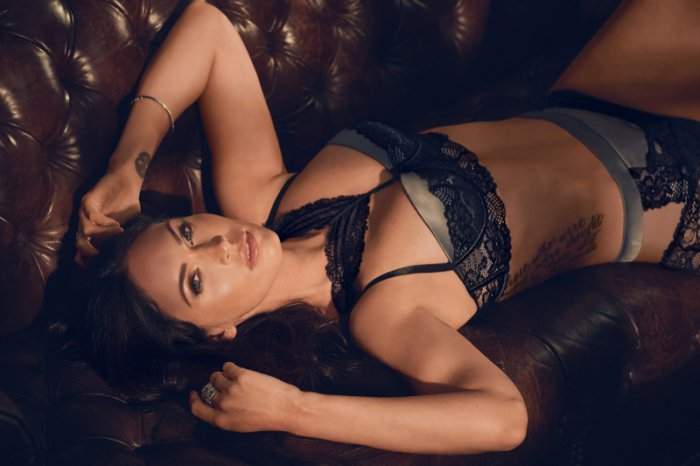 93b2b53e3 Megan Fox Wears Sexy Lingerie in Frederick s of Hollywood Campaign ...
