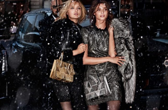 68e82be2f9964a Taylor Hill & Romee Strijd Shine in Michael Kors' Holiday 2017 Campaign