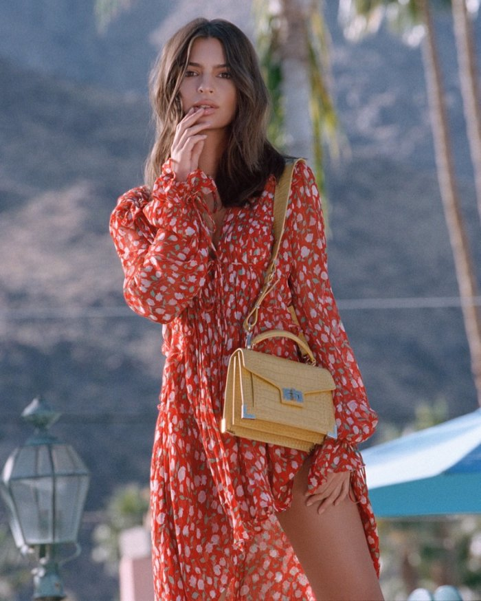 412273dc73f Emily Ratajkowski Models The Season's It Bag for The Kooples' Spring 2018  Campaign