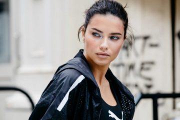 8c147fffd4e Adriana Lima Gets Sporty Chic in PUMA x Maybelline Campaign