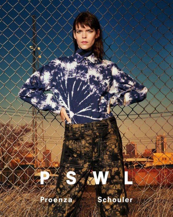 Sasha Pivovarova Fronts PSWL Proenza Schouler Spring 2019 ...